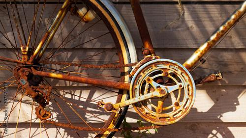 vélo ancien rouillé
