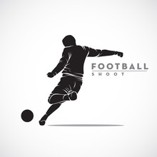 Silhouette Football Player Rea...