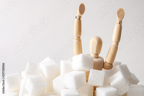Fotomural Sugar addiction, insulin resistance, unhealthy diet and November 14 is diabetes