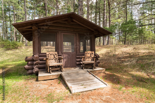 Fotografie, Obraz  Screenhouse at Historic East Cabin in Itasca State Park