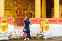 Man Photographing Temple Wat S...