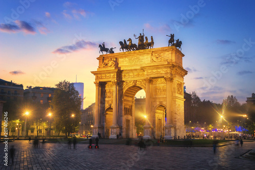 Photo  Arch of Peace - Sempione Park, Milan, Italy
