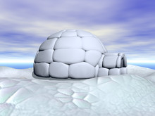 Iglu Aus Eisschollen In Der Arktis