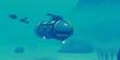 Unterwasserboot in der Tiefsee