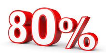 Eighty Percent Off. Discount 80 %.