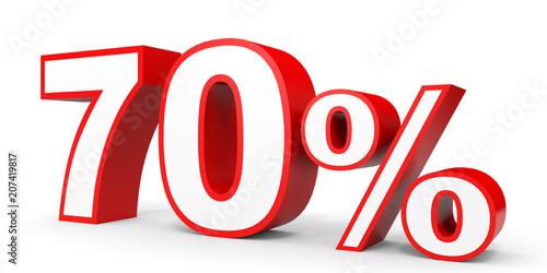 Tela  Seventy percent off. Discount 70 %.