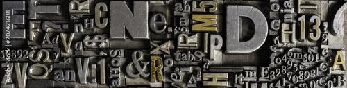 Obraz na plátně Metal Letterpress Types
