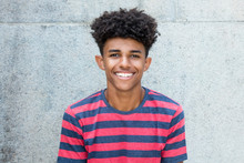 Portrait Of An African American Young Adult Man