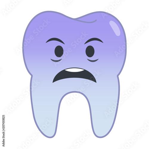 Fotografija  Zahn Emoji - geschockt