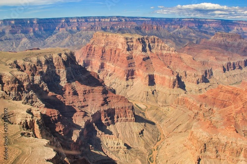 Grand Canyon aerial view from a helicopter