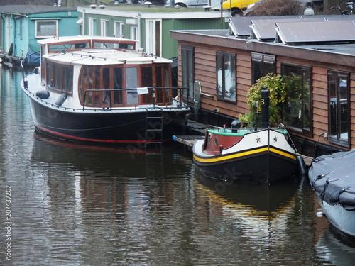 Photo  Boat House - Amsterdam - Netherlands - Holland