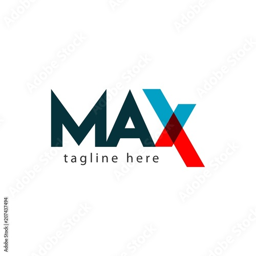 Photo  Max Logo Letter Vector Template Design Illustration