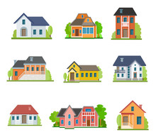 Set Of House Flat Icons