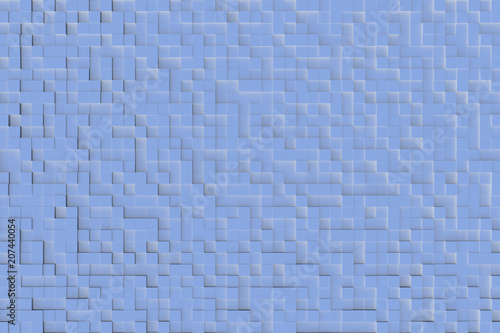 Fotografía  Blue abstract geometric cube or box shape background or patter design