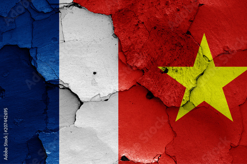 Fotografia  flags of French Indochina and North Vietnam