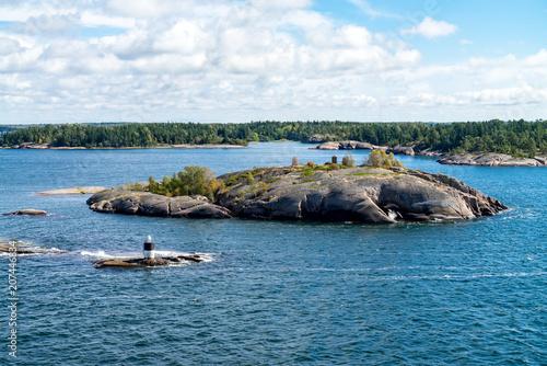 Montage in der Fensternische Stockholm Islands in the Stockholm archipelago, Sweden