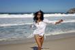 Woman on the beach in Rio de Janeiro
