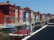 Włochy, Wenecja - Wyspa Burano - znana z tęczowo malowanych domów