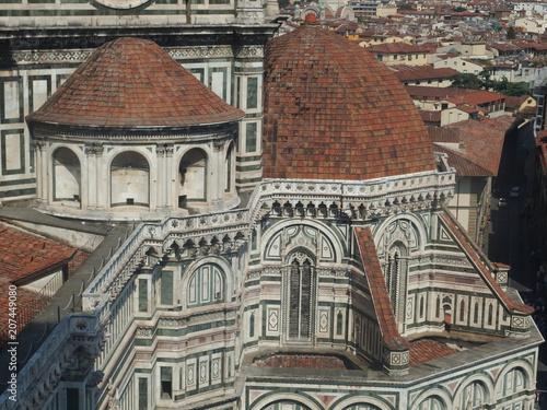 Naklejka premium Włochy, Florencja - widoki z dzwonnicy przy katedrze Santa Maria del Fiore