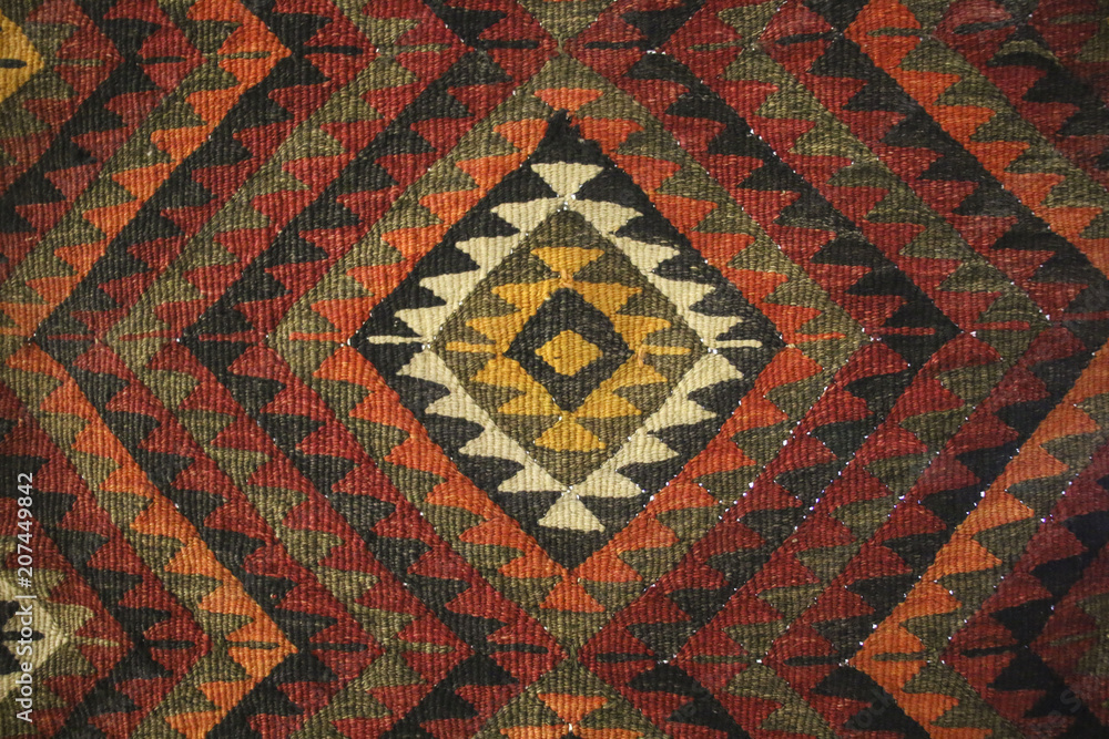 bedouin traditional wool carpet