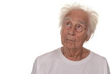 Senior Man On White