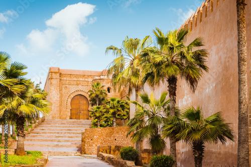 Staande foto India Kasbah of Udayas fortress in Rabat Morocco