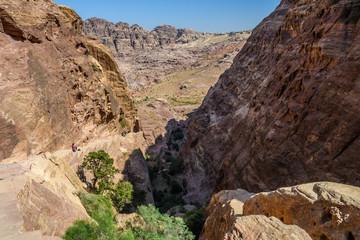 Colorful mountains in Petra, Jordan
