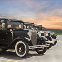 Vintage Car Sunset