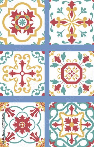 Photo Seis modelos de azulejos antigos