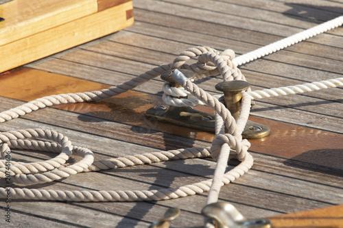 cornamusa  marinera de barcos Canvas Print