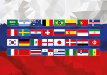 Russia World Cup Flag With All...