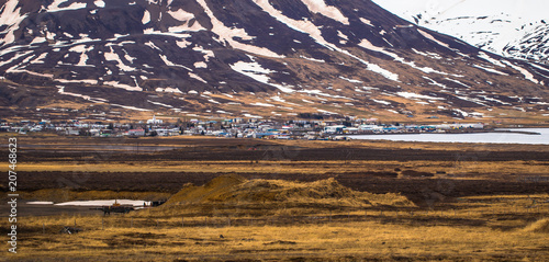 Keuken foto achterwand Aubergine Icelandic wilderness - May 07, 2018: Landscape in the eastern fjords of Iceland