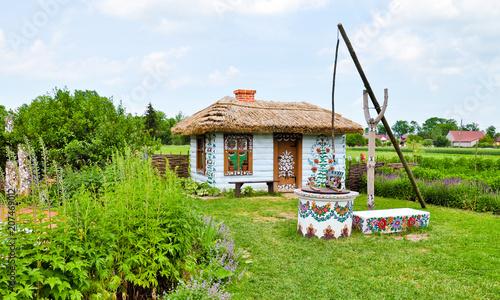 Painted house in Zalipie, Poland