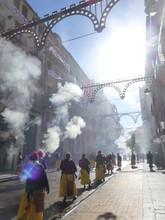 Moros Y Cristianos De Alcoy, Fiesta Internacional En Alcoy, Ciudad De Alicante En La Comunidad Valenciana, España