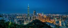Sunset Over Taipei City From Elephant Mountain