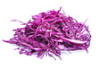 canvas print picture - sliced red cabbage on white background
