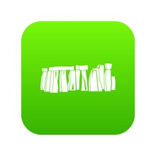 Stonehenge Icon Digital Green For Any Design Isolated On White Vector Illustration