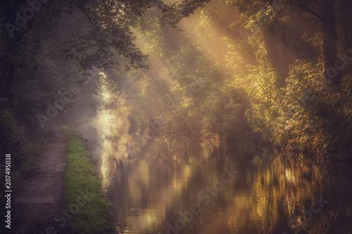 Keuken foto achterwand Bossen Autumn on the Grand Union Canal in Solihull, UK