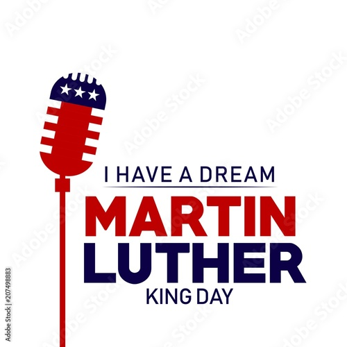Martin Luther King Day Vector Template Design Illustration Canvas Print