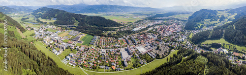 Drone view on Judenburg, Austria