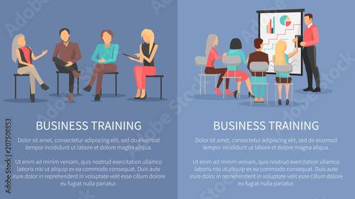 Fotografía  Business Training Set posters Success Motivation