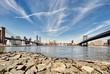 Manhattan skyline view from Brooklyn