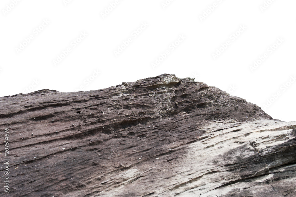Fototapety, obrazy: rock cliff isolate on white background