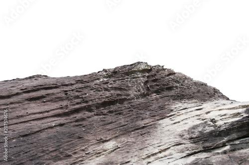 Obraz rock cliff isolate on white background - fototapety do salonu