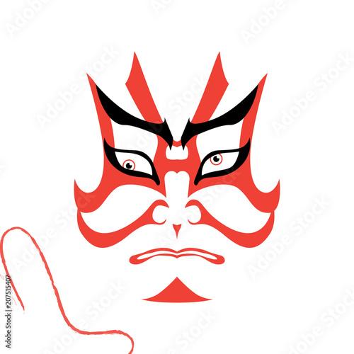 Japanese drama Kabuki face Canvas Print