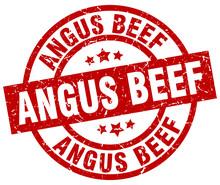 Angus Beef Round Red Grunge St...