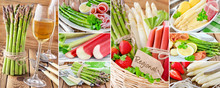 Spargel, Erdbeeren, Rhabarber Und Wein