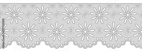 Fényképezés  Decorative ornament for border of fabric