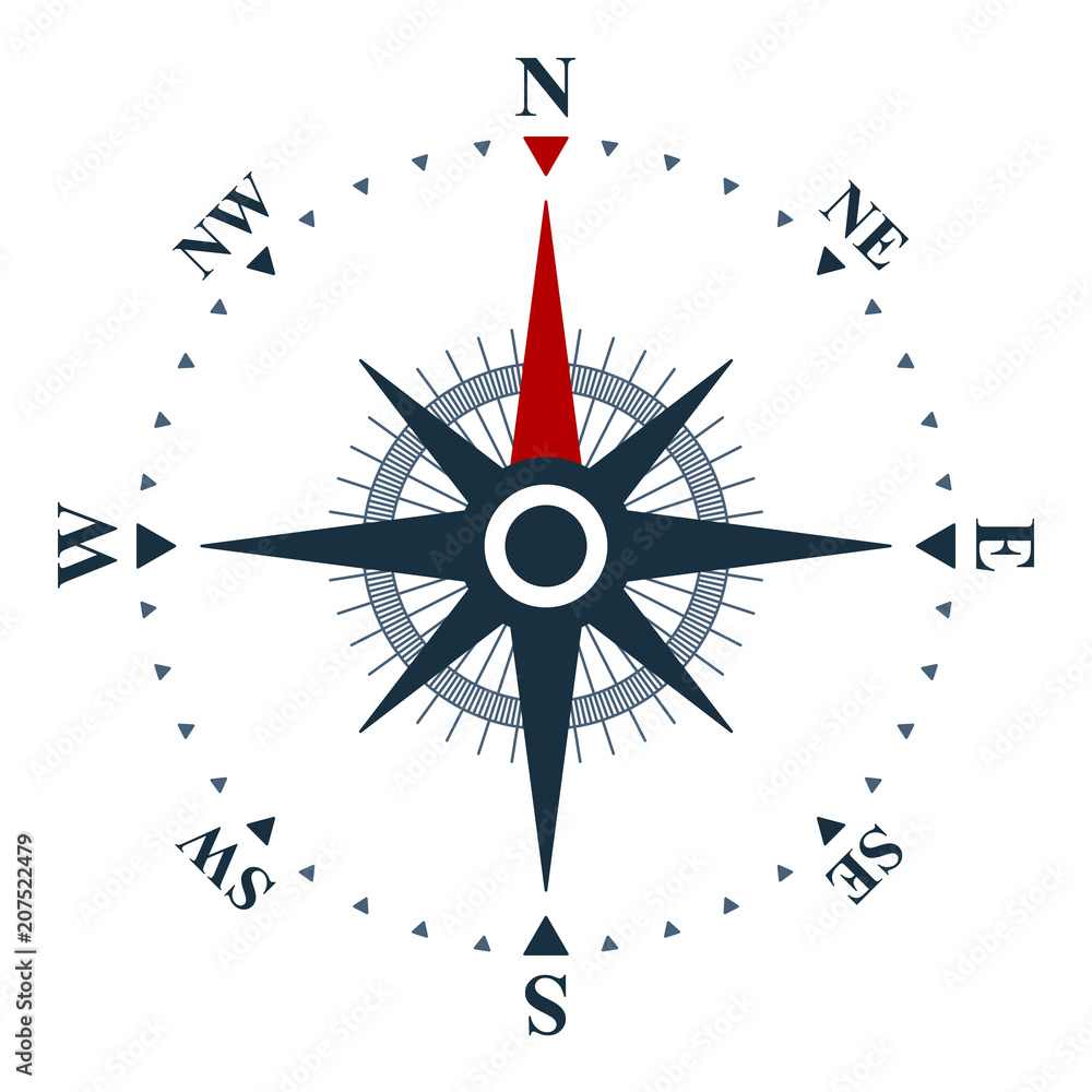 Poster Foto Compass Rose Icon Wind Rose And Navigation Symbol