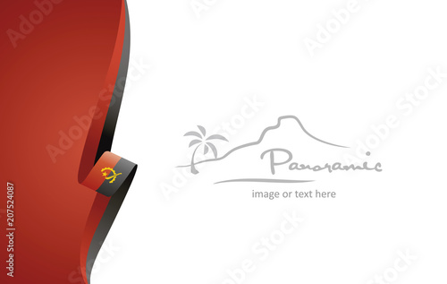 Photo Angola abstract flag brochure cover poster background vector